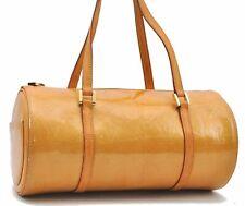 Authentic Louis Vuitton Vernis Bedford Hand Bag Yellow LV A9194