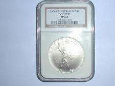 "2006-P $1 Ben Franklin ""Scientist"" Commemorative Silver Dollar NGC MS 69"