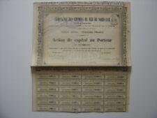 1867 Compagnie Chemins de Fer du Nord Est  EMPRUNT ACTION BOND LOAN TITRE COUPON