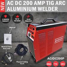 NEW MITECH AC/DC 200P TIG ARC Pulse Aluminium Welder Machine Industrial