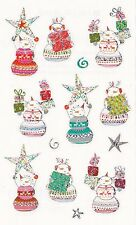 Mrs. Grossman's Turnowsky Stickers - Starry Snowmen - Christmas Boxes - 2 Strips