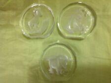 3 Danbury Mint Wildlife Crystals Paperweight Lot Yak*Ram Mountain Goat*Monkey A1