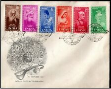 India 1952 Saint & Poets of India 6V FDC First Day Cover