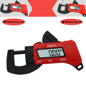 Electronic Digital LCD Thickness Guage 0-12.7mm Caliper Carbon Fiber Micrometer