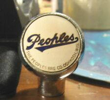 (VINTAGE) PEOPLES BEER -  BREWING CO BALL TAP KNOB OSHKOSH WI - WISCONSIN