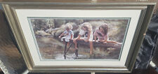 "Steve Hanks ""A World For Our Children"" Lithograph- Signed, Numbered, Framed-1991"