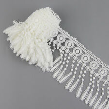 3 Yards White Flower Venise Lace Fringe Applique Lace Trims Sewing DIY Craft