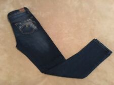 Justice Dark Wash Distressed Painted Denim Jeans, Size 10R