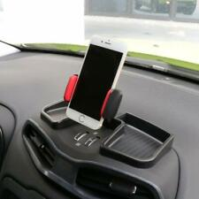 Cell Phone Holder Mount Dash 360° Rotate w/ Storage Box for Jeep Renegade (Red)