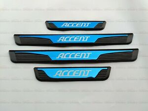 For Hyundai Accent Auto Accessories Door Sill Foot Pedal Bar Guard Protector 21