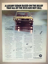 BMW 530i PRINT AD - 1976