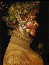 Large Oil Giuseppe Arcimboldo - The Summer rare Fruits and corn portrait