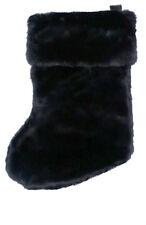 Plush Christmas Stocking - Black