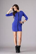 Unique & Trendy Womens Dress 3/4 Sleeve Tunic Crew Neck Sizes 8-14 FA280