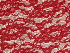Red stretch lace fabric embroidered 2 way quality material 1 yard 21 x 75 wide