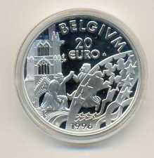 Belgium Silver 20 Euro 1996 PROOF