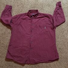 Woolrich Cotton XL Mens Shirt Long Sleeves Striped Warm Dress