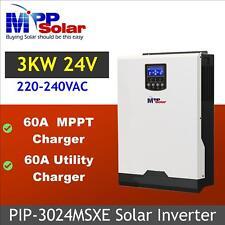 (MSXE) 3000w 24v solar inverter + MPPT solar charger 60A +60A battery charger