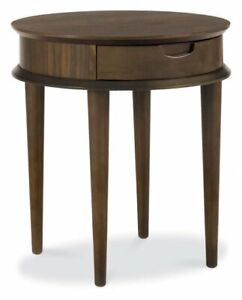 Bentley Designs Oslo Walnut Lamp Table With Drawer