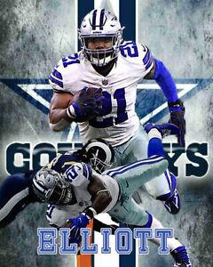 Dallas Cowboys Lithograph print of  Ezekiel Elliott.
