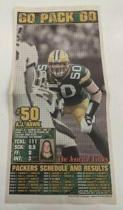 A.J. Hawk - Green Bay Packers 2010-11 Super Bowl Champs Newspaper Poster