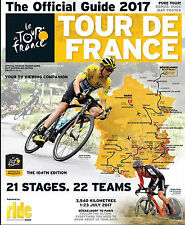 2017 TOUR DE FRANCE Official Race Guide + Giant Map Poster Australian Edition