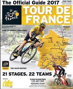 2017 TOUR DE FRANCE Official Race Guide + Giant Map Poster Australian Edition