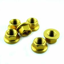 Kawasaki ZX6R 09-12  Aluminium Sprocket Nut Kit X6 - Gold