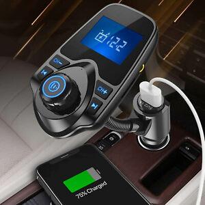 Wireless Stents FM Car Kit Transmitter 5.0 Mp3 Player Handsfree Radio Adapter UK
