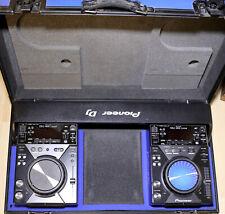 "Coppia PIONEER CDJ 400K Black Limited Edition + CASE ""Pioneer DJ"" BLU not 2000"