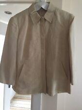 STUNNING LADIES  PALE GOLD SILK & LINEN LINED JACKET BY NEXT EX CON SIZE 14
