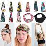 Ladies Women Wide Hairband Elastic Bandana Turban Hair Band Sport Yoga Head Wrap