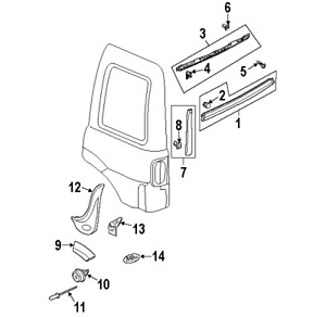 LAND ROVER DYC101420 GENUINE OEM LOWER MOLDING CLIP