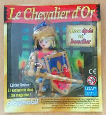 FIGURINE PLAYMO PLAYMOBIL DE MAGAZINE : MOYEN AGE LE CHEVALIER D'OR