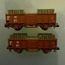 Minitrix-alta bordo carrello con carico legno (miniere legno) - 11 pezzi disponibile-NUOVO