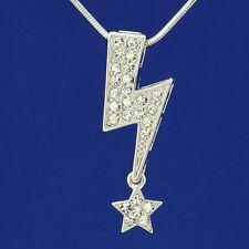 Thunder Bolt Star Made With Swarovski Crystal Lightning Pendant Jewelry New Gift