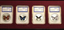 2014 Chen Baocai Butterfly Collection Coins! Series Iii- 4 Ounces Of Silver Clad