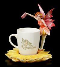Figura Elfos con Taza - Rojo Hadas Rara - Tassenelfe de Café Decoración