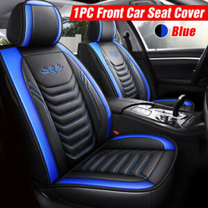 Universal PU Leather Waterproof Car Seat Cover For Truck SUV Sedan Blue Black