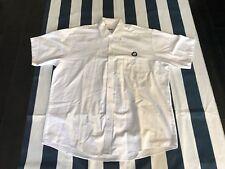 Cintas Short Sleeve Button Down BMW White Mechanic Work Shirt XL XLARGE 17 1/2SS