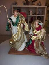 grand SANTON drapé CRECHE NOEL JESUS MARIE JOSEPH Neuf ancien stock magasin