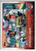 2015 Topps Update #US286 Francisco Lindor Rookie Debut Cleveland Indians RC