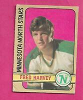 1972-73 OPC # 246 STARS FRED HARVEY  HIGH #  ROOKIE GOOD CARD (INV# C3619)