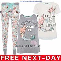 OFFICIAL Disney The LITTLE MERMAID Pyjama ARIEL Leggings T-Shirt Vest PJ Sequin