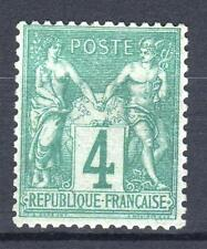 "FRANCE STAMP TIMBRE 63 "" SAGE 4c VERT 1876 "" NEUF xx TTB   M812"