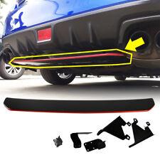 2018 NEW Painted Black + Red Line FOR Subaru WRX STI Diffuser Under Lip Spoiler