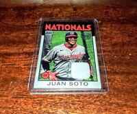 JUAN SOTO 2021 TOPPS SERIES 1 35th Anniversary 1986 JERSEY RELIC #86R-JSO HOT!!!