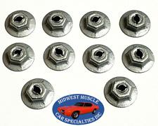 Dodge Plymouth Trim Molding Clip Emblem Pal Thread Cutting Speed Nuts 10pcs E