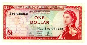 East Caribbean States … P-13d … 1 Dollar … ND(1965) ... ch*F-VF*. Sing 6.