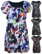 Chiffon Short Sleeve Casual Plus Size Dresses for Women
